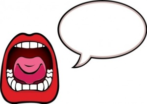 speaking clip art