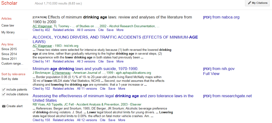 Lower drinking age thesis